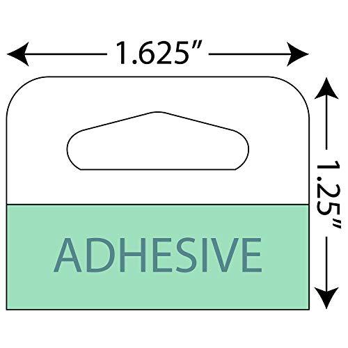 Adhesive Hang Tabs - 1000Pack - Heavy Duty Retail Hang Tags 1-58 X 1-14 Slot Holed