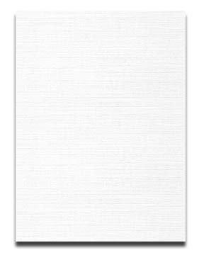 Neenah CLASSIC LINEN 85 x 11 Card Stock - Solar White - 80lb Cover - 250 PK
