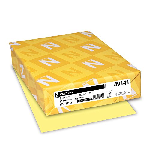 Neenah Exact Index 90 lb 85 x 11 Inches 250 Sheets Canary