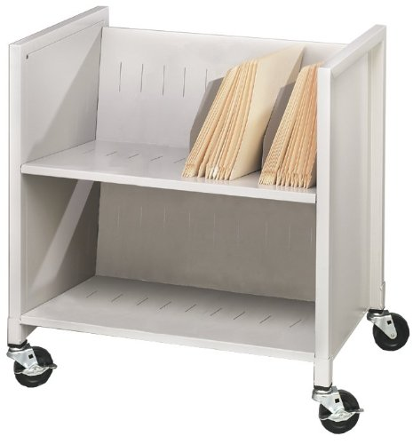 Buddy Products Low Profile Medical Cart Steel 16125 x 27375 x 25875 Inches Platinum 5421-32