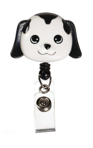 Prestige Medical S14-dog Retractable Badge Holder with Bulldog Clip Dog