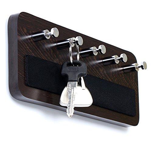 Bluewud Skywood Wall Mounted Key HolderKey Rack Hooks Wenge 5 Keys Big