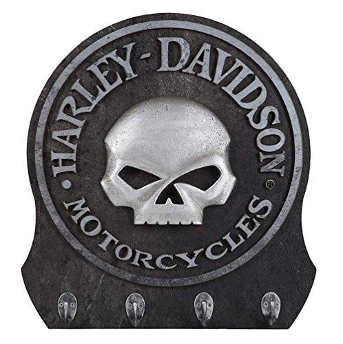 Harley-Davidson Sculpted 3D Willie G Skull Key Rack Textured Finish HDL-15313
