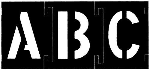 Ch Hanson 10195 Stencil Set Numbers&Letters Plstic 138PC