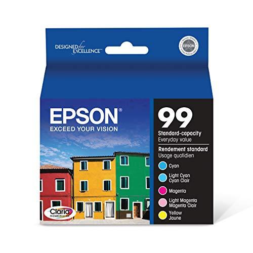 Epson Claria T099920 Hi-Definition 99 Standard-capacity Inkjet Cartridge Color Multipack -CyanLight CyanMagentaLight MagentaYellow