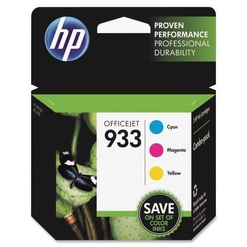 HP 933 Ink Cartridge - Cyan Magenta Yellow - Inkjet - 330 Page - 3  Pack by HP
