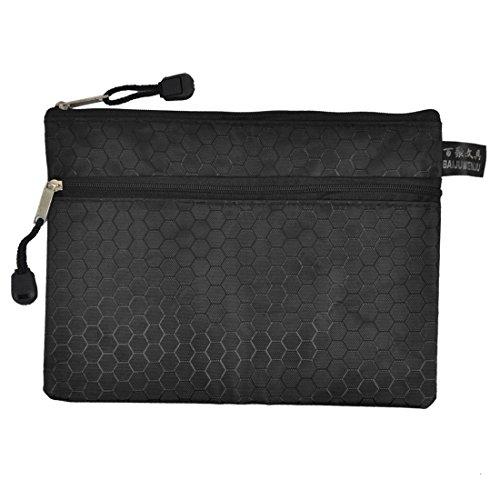 Uxcell Rectangle A5 Paper Pens File Bag Case Organizer Black