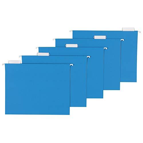 AmazonBasics Hanging Folders Letter Size Blue 25 per Box