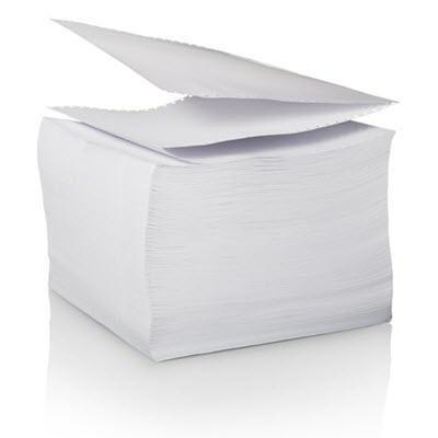 95 x 300 Folded Printer Paper 85 fold - Well Log - 20lb Bright White Inkjet Paper - 4 packs