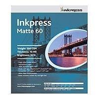 Inkpress Matte-60 Single Sided Bright White Inkjet Paper 10 mil 200gsm 11x17 50 Sheets