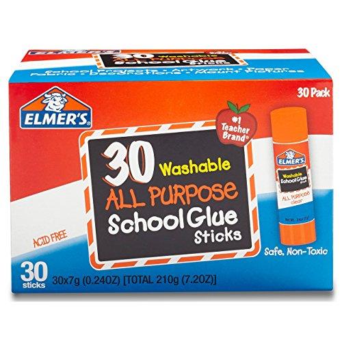 Elmers All Purpose School Glue Sticks Washable 30 Pack 024-ounce sticks