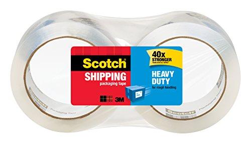 Scotch Heavy Duty Shipping Packaging Tape 3 Core 188 x 546 Yards 2 Rolls 3850-2