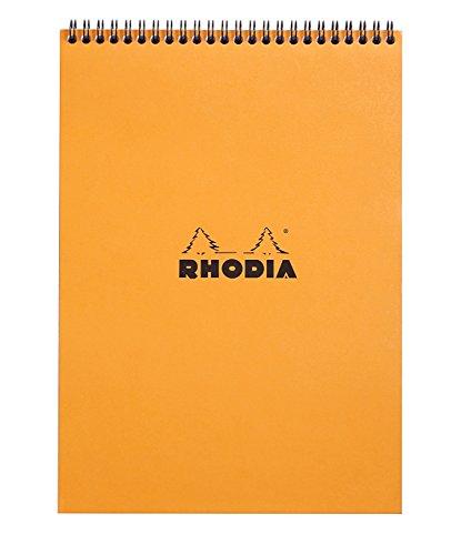 Rhodia Wirebound Notepad A4 Square Ruling - Orange