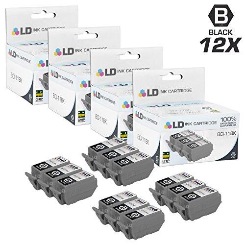 LD © Compatible Canon BCI-11BK Set of 12 Black Inkjet Cartridges for Canon BJC 50 55 70 80 85 85W LR1 Printers