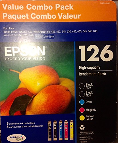 Epson Inkjet Ink - 126 High Capacity Value Combo Pack
