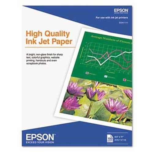 Epson Inkjet Paper Matte 8-12 x 11 100 SheetsPack