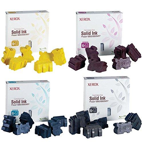 Xerox 108R00749 108R00746 108R00747 108R00748 Ink Cartridge Set - Phaser 8860