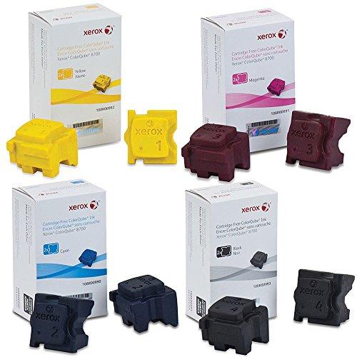 Xerox 108R00990 108R00991 108R00992 108R00993 Ink Cartridge Set - ColorQube 8700