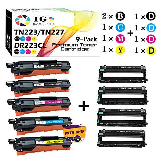 5-Pack Toner  4-Pack Drum TG Imaging Compatible TN223 TN227 Toner Cartridge DR223CL Drum Unit for Brother HL-L3210CW HL-L3230CDW MFC-L3710CW Printer