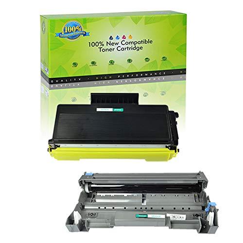NineLeaf 2 Pack Combo TN580 Toner Cartridge DR520 Drum Cartridge Compatible for DCP-8060 DCP-8065DN MFC-8460N MFC-8470DN MFC-8660DN MFC-8670DN HL-5240 HL-5250DN