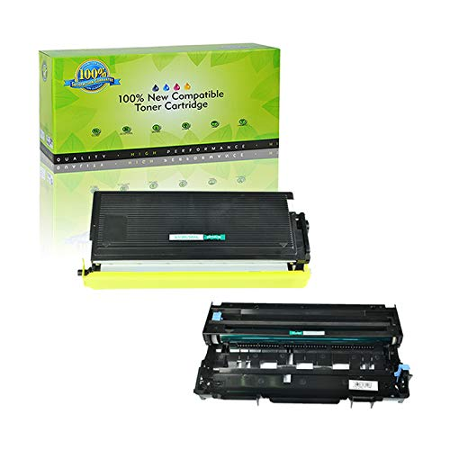 NineLeaf Compatible Toner Cartridge Drum Unit Replacements for TN-560 TN560 High Yield DR-500 DR500 DCP-8020 D8025D HL-1650185050405050 MFC-842088208820DN 1 Toner 1 Drum 2 Pack