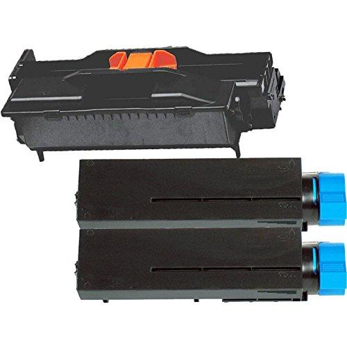 1 Drum  2 Toner Inktoneram Replacement toner cartridges drum for Okidata B411  B431  MB461  MB471  MB491 Toner Cartridges Drum replacement for Okidata B411  B431 44574301 44574701 MB461 MFP MB471 MFP MB471w MFP MB491 MFP B411d B411dn B431d