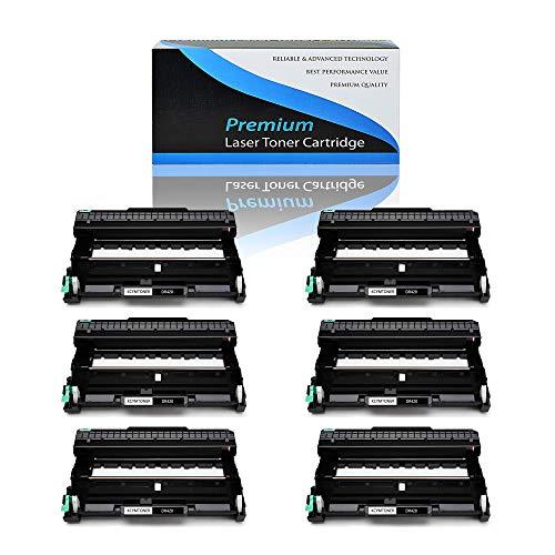 KCMYTONER 6 Packs Compatible DR420 DR 420 Drum Unit Black High Yield for HL-2270DW IntelliFax-2840 MFC-7240 DCP-7060D HL-2280DW HL-2230 HL-2240 HL-2240D MFC-7860DW MFC-7360N Printer Series