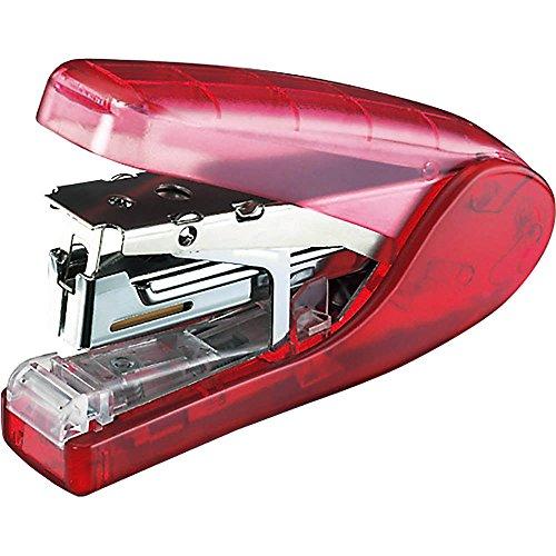 Kokuyo flat clinch stapler latch Kiss No 10 100pcs transparent Red SL-MF83TR japan import