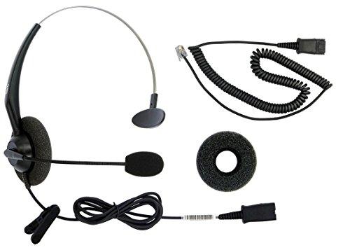 DailyHeadset RJ9 Corded Phone Headset for Most Common Corded Home Telephones Office IP VoIP Analog Phones Aastra Alcatel Digium Gigaset Intertel Mitel NEC Nortel Polycom ShoreTel Toshiba etc Phones