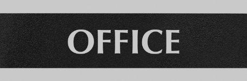 Headline Sign 4762 Century Series Office Sign OFFICE 9 x 3 BlackSilver