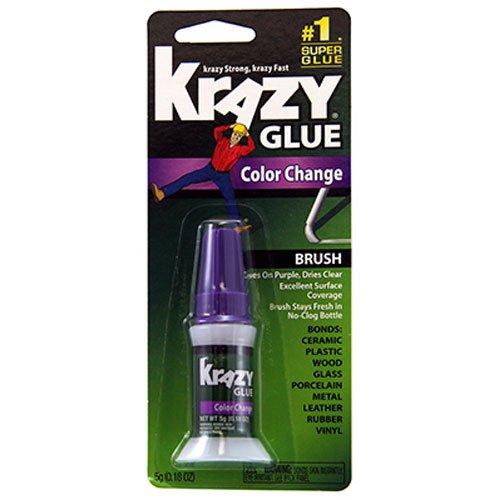 Krazy Glue KG98848R Instant Crazy Glue Color Change Brush 018-Ounce