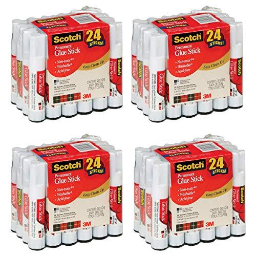 Scotch Glue Stick28 oz 24-Pack - 028 oz - 24  Pack - White 4 Pack