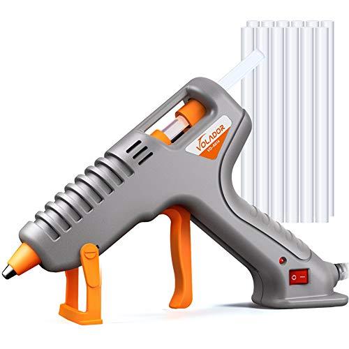 Hot Glue Gun Volador 60W Anti-Drip Hot Melt Glue Gun Kit with 12PCS Glue Sticks for DIY Arts Crafts Sealing Hobbies Home Repairs