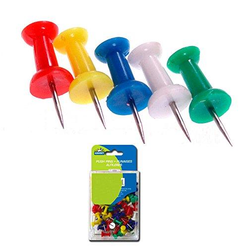 100 Pcs Push Pin Thumb Tack Multi Color 38 Drawing Cork Board Office Pushpin