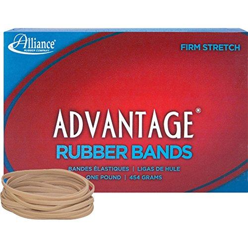 Alliance Advantage Rubber Bands 33 - Size 33 - 35 Length x 013 Width - 1 lb Box - Natural