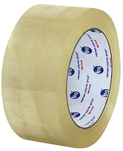 Intertape Polymer Group F4085-05 7100 Medium Grade Hot Melt Carton Sealing Tape 185 mil Thick x 100M Length x 48mm Width Clear Case of 36 Rolls
