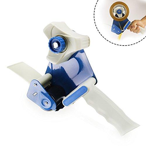 Ultra Tape Dispenser  Lightweight Pro Pistol Grip Boxes Cartons Tape Dispenser  Premium Steel and PS Hand Held Tape Dispenser Gun  Easy Operation and Load Hold 2 Inch Tape  Blue White  13202