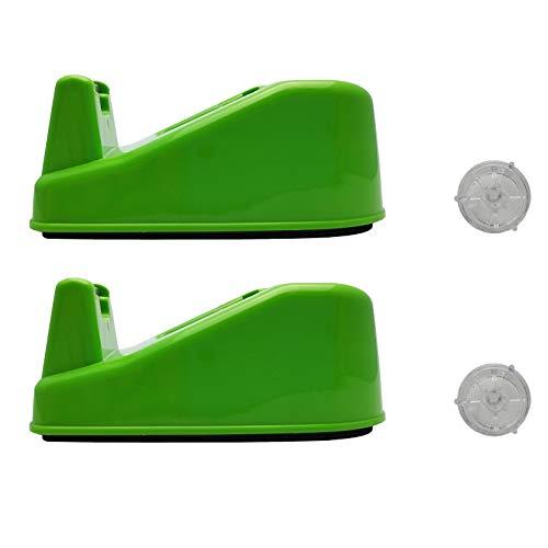 2 Pack Desktop Washi Masking Tape DispenserTape CutterRoll Tape Holder Green Fits 34 in x 500in Tape