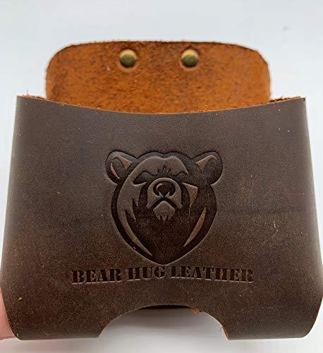 Bear Hug Premium Leather Measure Tape Holder with Belt Loop by Endeavor Designs Fits All 16 Feet Models