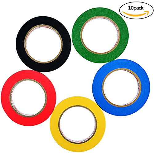 10 Pcs Gridding Marking Tape Nydotd 5 Colors Self Adhesive Chart Artist Tapes Whiteboard Grid Tape 5mm Width