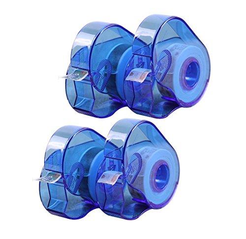 Hybsk Plastic Washi Tape Dispenser Holder Masking Adhesive Paper Cutter Pack of 4