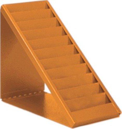 VICS Desktop Swipe Card Badge Rack Glory Model 160-10-DM 10 Slot-Orange