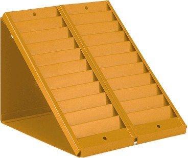VICS Desktop Swipe Card Badge Rack Glory Model 160-20-DM20 Pocket-Orange