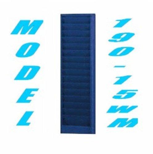 VICS Landscape Swipe Card Badge Rack Liberty Model 190-15-WM 15 Slot-Blue