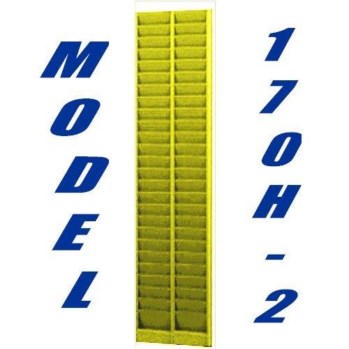 VICS Vertical Swipe Card Badge Rack Patriot Model 170H-2 50 Pockets-Yellow
