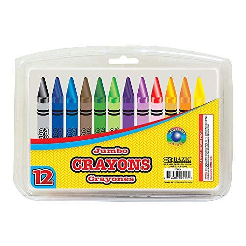 BAZIC 12 Color Premium Jumbo Crayons