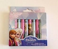 10 Jumbo Crayons - Frozen