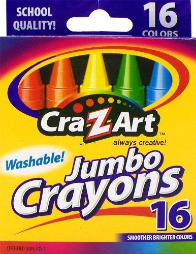 Cra-Z-art  Washable Jumbo Crayons 16 Count  10204