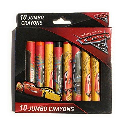 Disney Cars 3 Jumbo Crayons - 10 Pcs