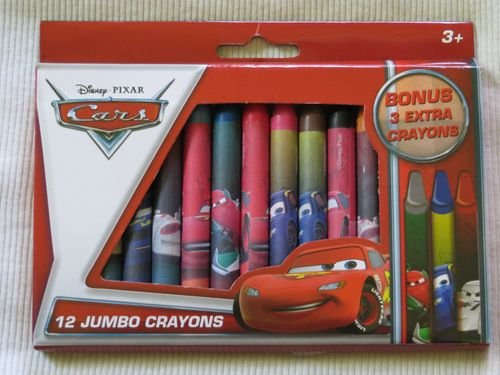 DisneyPixar Cars 12 Jumbo Crayons  3 Extra Bonus